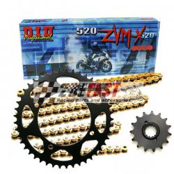Zestaw napędowy DID ZVMX / JT Kawasaki ZX10R 04-05