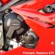 Triumph Daytona 675 R 11-12 - zestaw osłon dekli silnika GB Racing